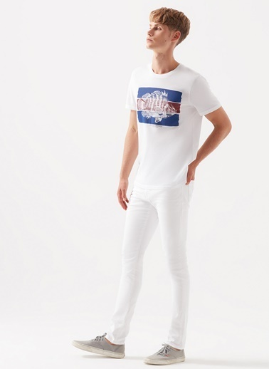 Mavi Mavi 0042432603 James White Comfort Beyaz Erkek Denim Pantolon Beyaz